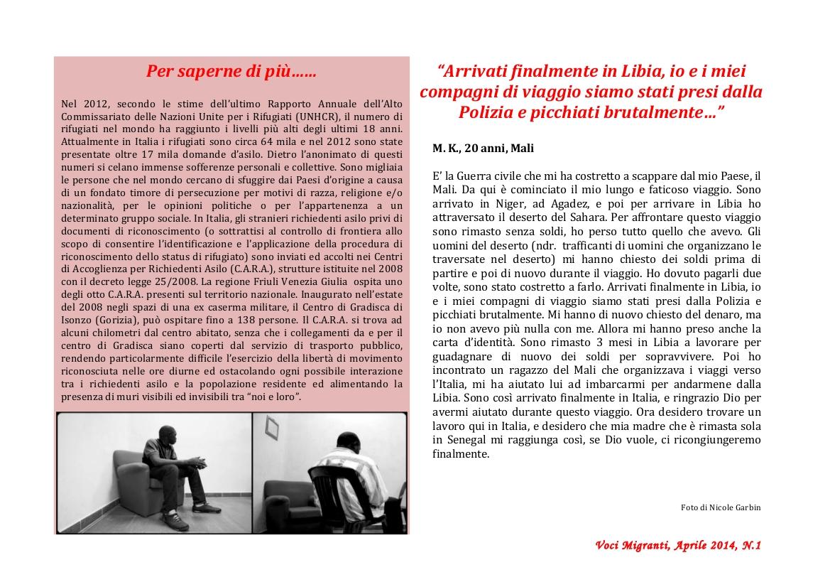 "Newsletter ""Voci Migranti"" pag 02"