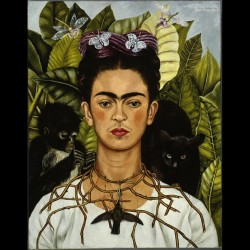 Frida Kahlo, Autoritratto con collana di spine, 1940 Nickolas Muray Collection, Harry Ransom Center - The University of Texas at Austin, by SIAE 2014