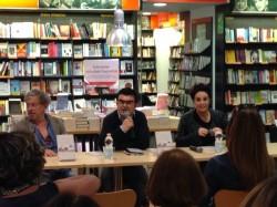 Paolo Rossi, Gian Paolo Serino, Roberta Torre, Milano, Libreria Feltrinelli. Foto di Tiziana Mazzaglia.