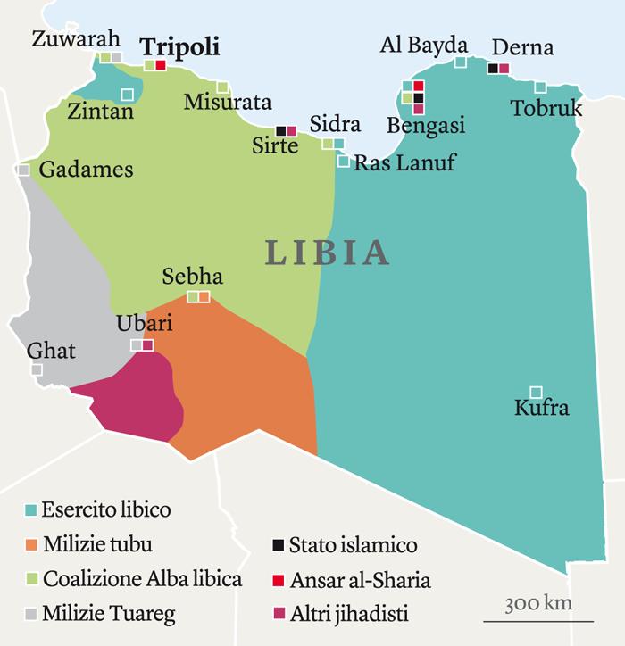 mappa guerra libia