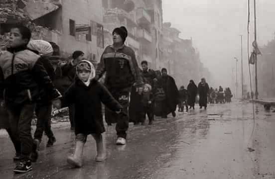 evacuazione aleppo guerra siria