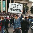 femminismo uomini protesta