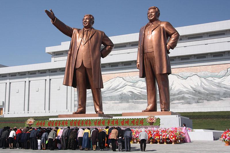 statue kim jong un corea del nord