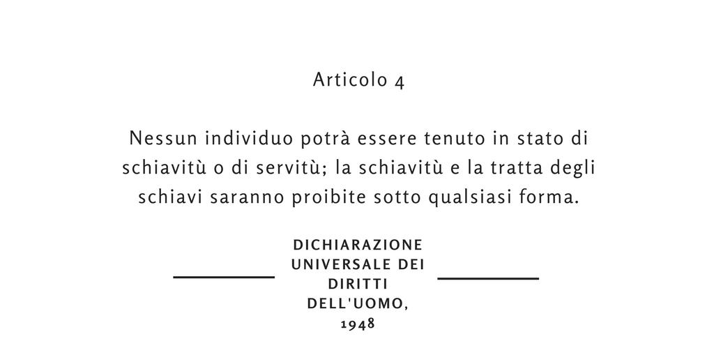 dichiarazione universale dei diritti dell'uomo articolo 4 socialnews tratta