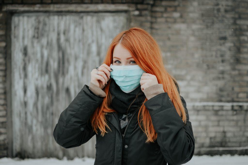 redhead mask covid