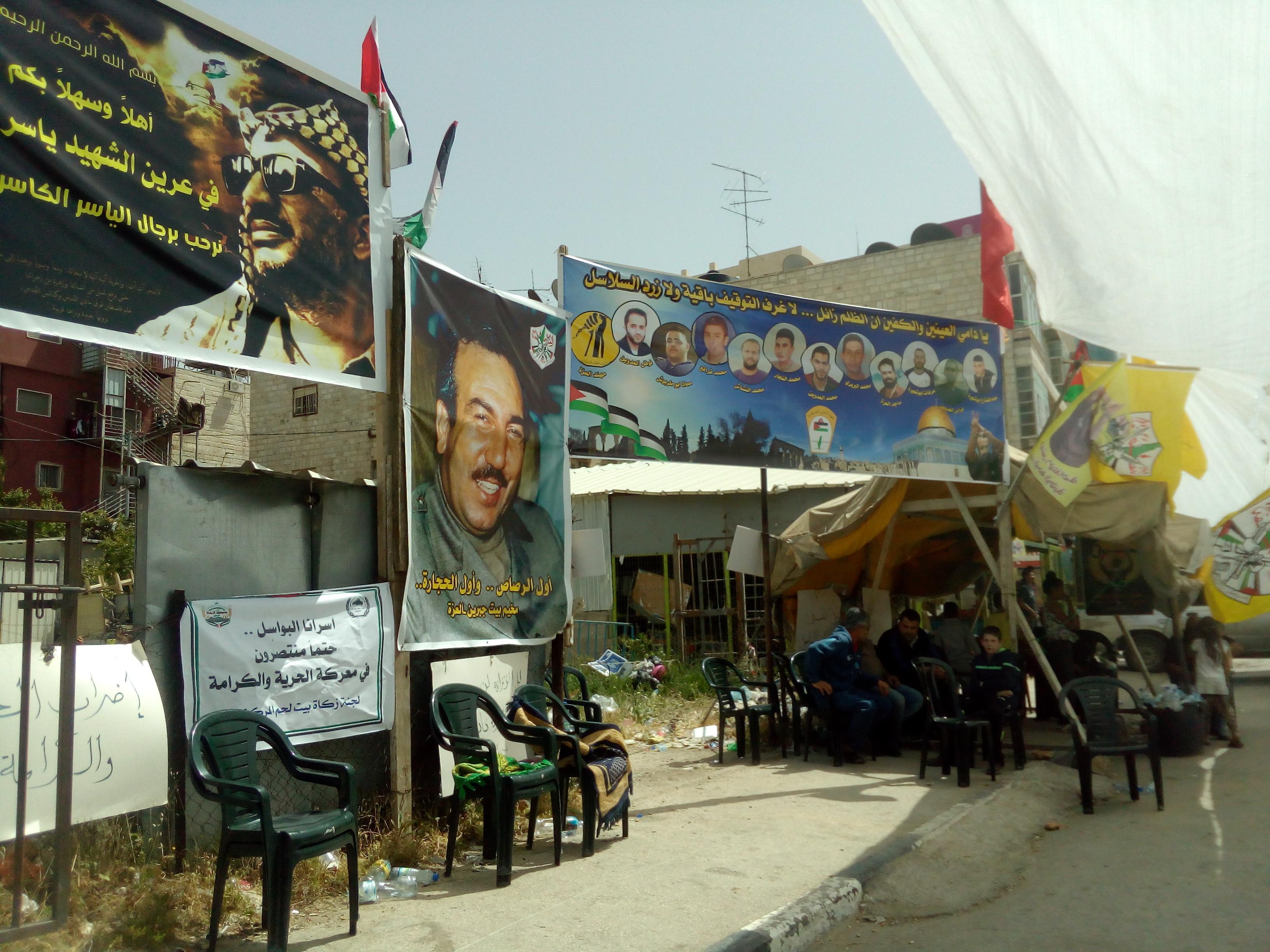 protesta palestina carceri